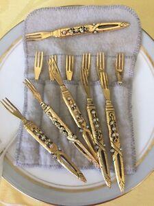 Vintage Brass Forks