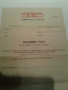 Looking to buy -Old Income Tax Returns prior to 1970