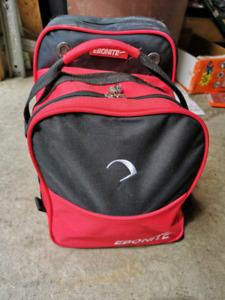 12 lb Bowling ball, bowling bag & ladies shoes
