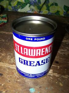Vintage  ST.LAWRENCE Advertising Grease Can Gananoque Ontario.