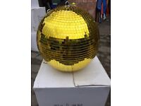 Gold glitter ball disco