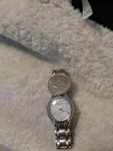 Citizen mother of pearl diamond watch