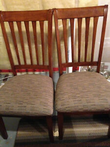 2 Ashley Furniture Dining Room Chairs