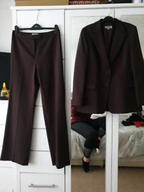 M&S Size 14 Women's Trousers Suit