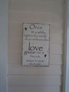 Personalized Wedding and Home  Decor -A Bit of Country. London Ontario image 1