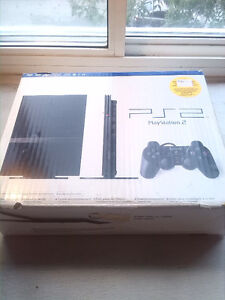 Playstation 2: PS2 Slim Black 2 Controllers 3 cards + Cords