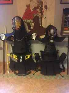 Kendo Bogu. Adult and child