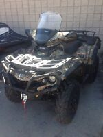 2014 Can-Am Outlander 1000XT only 185kms