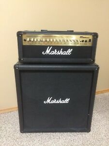Marshall MG100HDFX amp with 4x12 cabinet