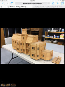Large wooden Doll house 1/2 scale