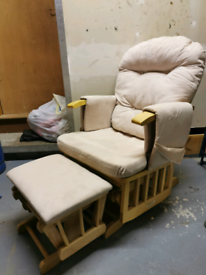 Baby Weavers rocking glider chair and stool