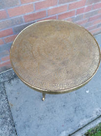 Brass effect table