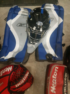 Adult Ball hockey equipment