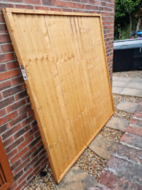 6x6 Closeboard Fence Panel, posts and bag of post mix