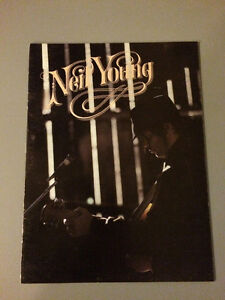 Neil Young 1984 concert program , vintage , very rare . 30$