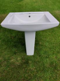 Bathroom Sink and Pedestal