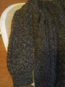 Carraig Donn Aran Full Zip Cable Knit 100% Wool Sweater Men's XL Peterborough Peterborough Area image 4