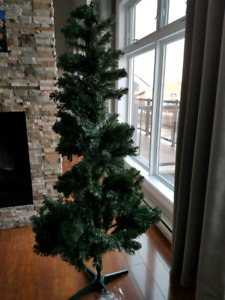 IKEA Artificial Christmas Tree with ornaments