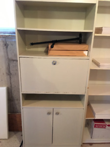 White Cabinet with Doors