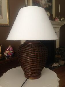 Ralph Lauren Rattan Table Lamp
