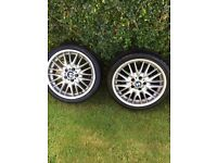 "BMW E46 18"" MV1 staggered alloy wheels x4"