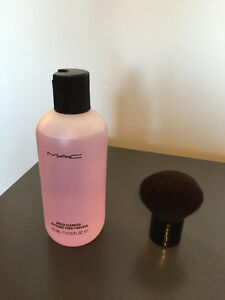 MAC Kabuki brush and brush cleanser