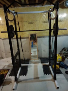 Home Gym Clearout (Rack + Weights + Tree + Barbell + Bench)
