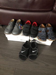 4 pairs of toddler boy shoes size 8C
