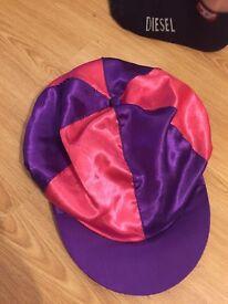 Riding hat silk