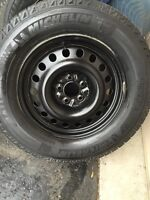 245-65-17 Michelin X-ice2  Winter tires and steel rims