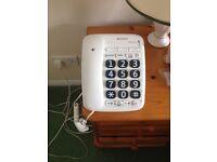 Large key telephone handset