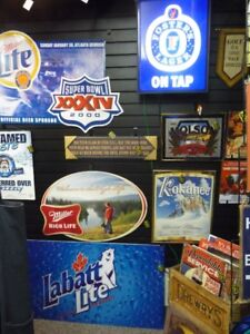Beer Signs, Mancave Decor and Collectibles @ The Rec Room