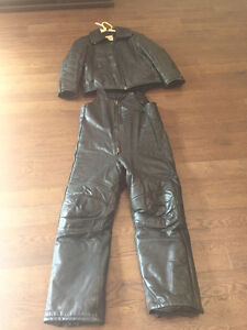 Leather Snowmobile Suite