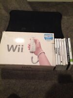 Wii with Wii Fit and 5 games