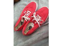 Red vans size uk 6