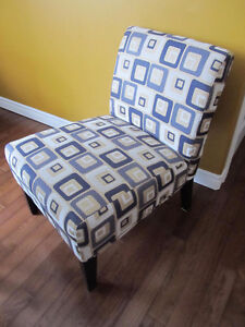 Blue and Beige Accent Chair Mint!!!