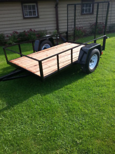 5x8 trailer with ramp gate