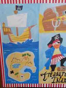 Pirate Wrapped Canvas Print/Painting for Kids Room Cambridge Kitchener Area image 2