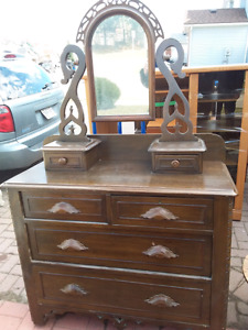 Beautiful Dresser antique with mirror today 150.00