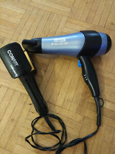 Conair hair dryer and straightener $20 in total