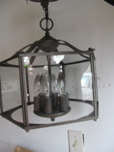 Lantern Chandelier-6 bulbs for entryway or dining nook