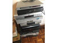 Video player recorders DVD sky mini disc compact disc tape