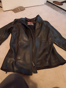 Woman's small leather riding jacket