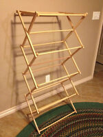 """Wooden Clothes Drying Rack, 24"""" x 5' or 3 1/2'"""