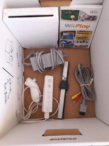 Nintendo Wii console, Rock Band, and 12 games