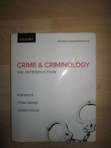 Crime and Criminology An Introduction 2nd Canadian Edition Kitchener / Waterloo Kitchener Area image 1
