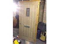 Solid oak door and frame