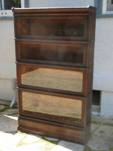 Antique Globe Wernicke Stacking Bookcase