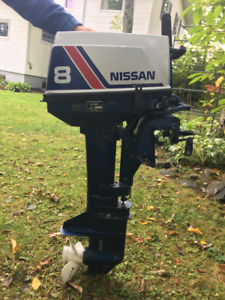 NISSAN 8 HP TWO STROKE OUTBOARD MOTOR. ##NEED GONE##