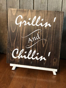 """""""GRILLIN' AND CHILLIN'"""" BARBECUE TOOL HANGER"""